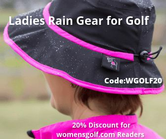 Ladies Rain Gear for Golf - 20 percent discout